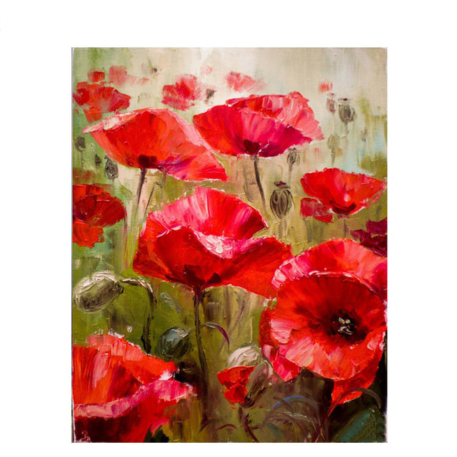 Diy painting by numbers red poppy flower paint by numbers acrylic diy painting by numbers red poppy flower paint by numbers acrylic paint on canvas diy picture mightylinksfo