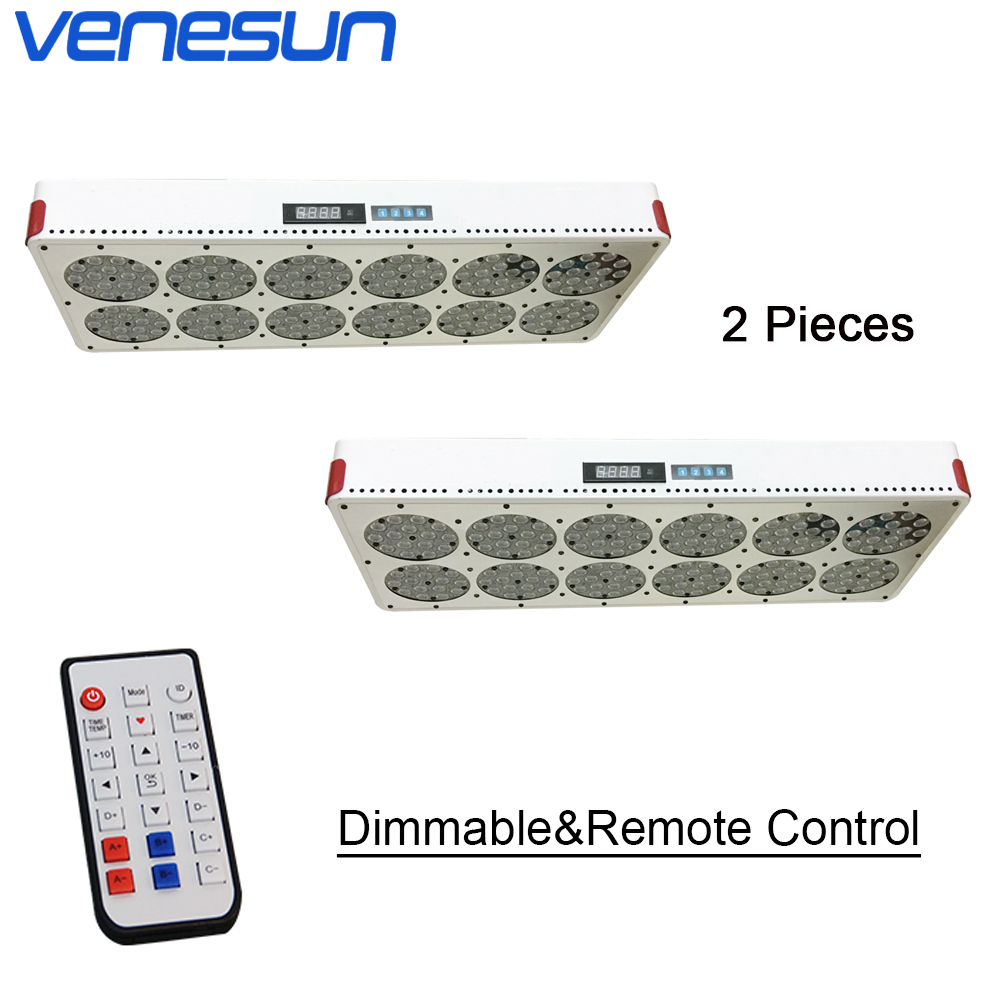 Full Spectrum Apollo 12 LED Grow Light Dimmable Remote Control Venesun Plant Grow Lamps For Indoor Plant Hydroponic Greenhouse