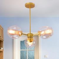 Loft Minimalist Chandeliers The Beanstalk LED Retro Lamps Art Decoration Lights E27 Industrial Glass Chandelier For Restaurant|Chandeliers|Lights & Lighting -
