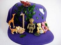اليدوية غابة الحيوانات يترك شقة القبعات قبعة قبعة فاسق محب القوطي kawaii فريد