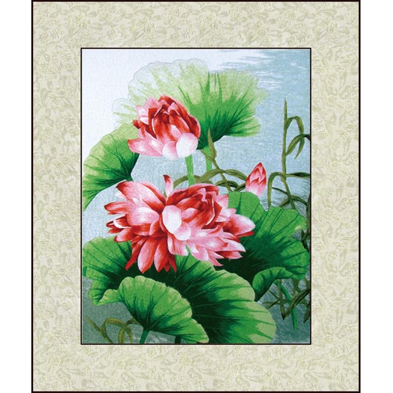Cross Stitch dokončena letní Lotus-vyšívání dokončena / Suzhou - Umění, řemesla a šití