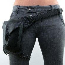 Стимпанк женская поясная сумка для ног, мотоциклетная мужская поясная сумка из искусственной кожи, сумка-мессенджер на плечо, сумки через плечо, сумка-кобура в стиле панк-рок