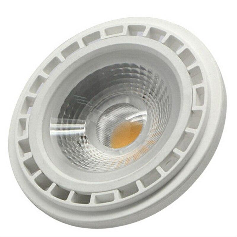 (10 шт./лот) высокая Мощность затемнения 15 Вт COB светодиодные лампы ar111 qr111 <font><b>G53</b></font> GU10 ES111 15 Вт Светодиодный прожектор AC85-265V бесплатная доставка