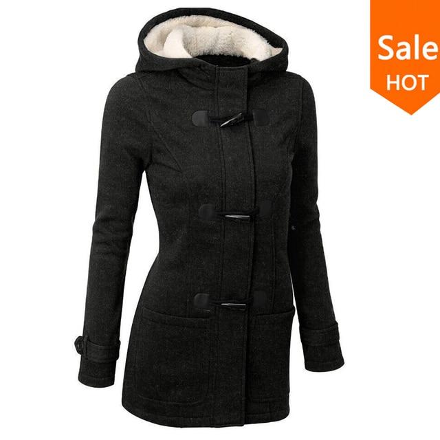 Женская куртка с капюшоном. Осень - Зима. Пальто Плащ Пуховик