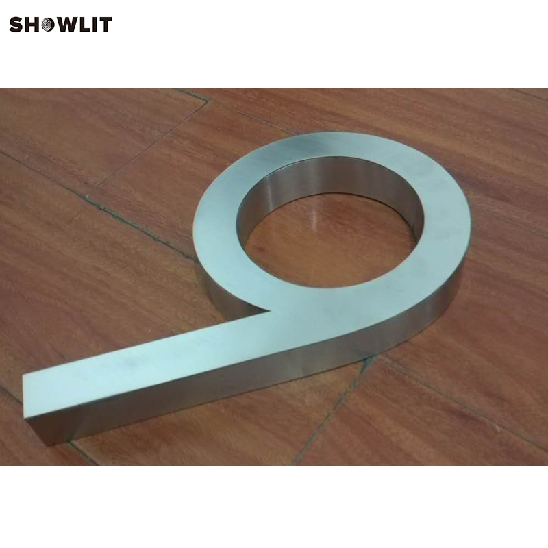 Brushed Stainless Steel Modern House Numbers цена