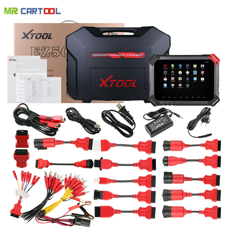 цены Original XTOOL EZ500 HD Heavy Duty Works Almost All Truck Models with WIFI Diagnostic System and Special Function