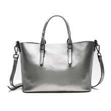 QIANGSHILI Brand Fashion Solid light Cowhide Genuine Leather Tote Shoulder Bag Luxury Handbags Women Bags Designer High Quality