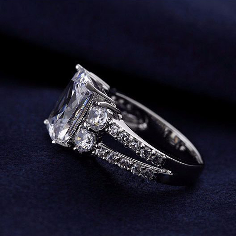 women silver rings with square crystals (1)