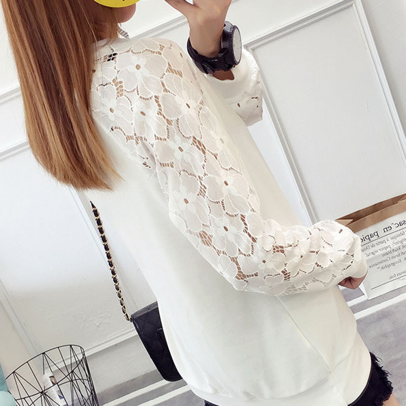 shintimes Floral Lace Blouse Women Blusa Feminina Blusas Mujer De Moda 2018 Womens Tops And Blouses Chemise Femme Cotton Clothes in Blouses amp Shirts from Women 39 s Clothing