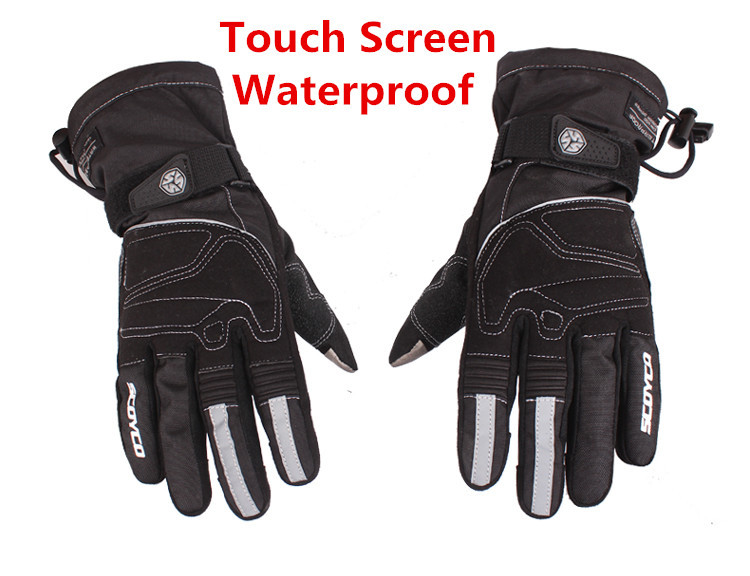 New 2015 Winter Touch Screen Motorcycle Gloves Waterproof Warm Motocross Racing Motos Motorbike Cycling Glove luva