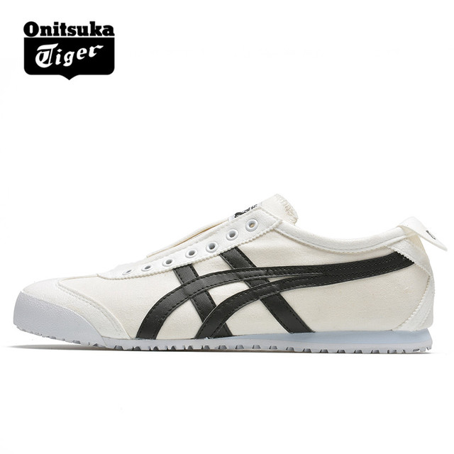 ONITSUKA TIGER Men Women Canvas Shoes White Black Slip-On Low Level Light  Shoes Breathable Street Sneakers Lazy Badminton Shoes 6f17e05ac