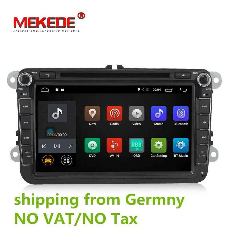 Livraison gratuite Android 7.1 2 gb RAM Lecteur DVD de Voiture pour VW Golf mk6 5 Polo Jetta Tiguan Passat B6 5 cc pour skodao ctavia fabia