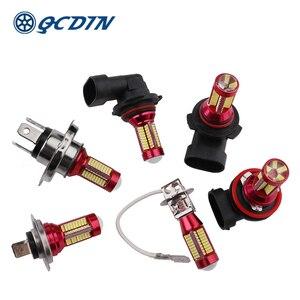 QCDIN 2Pcs H7 Car LED Headligh