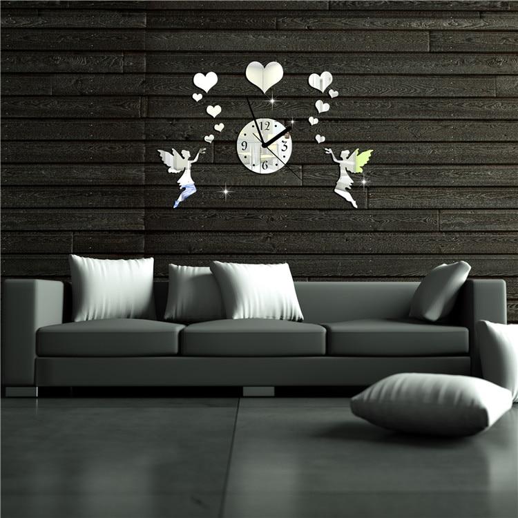 Acrilico doppio angelo amore minimalista fashion art orologio da ...