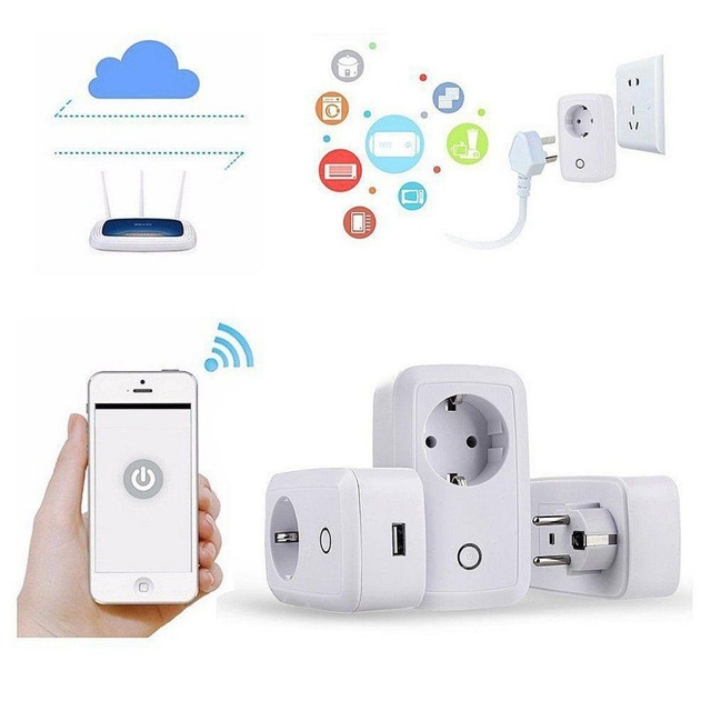Wifi Cell Phone Switch Timer Smart Home Automation Power Socket EU ...