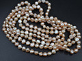 "free shipping 60""  freshwater genuine pearl necklace"