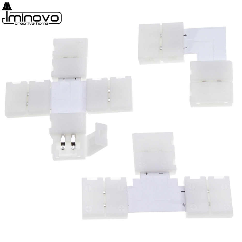 5pcs LED Strip Connector 10mm 4pin 5pin L Shape T Shape X Shape Free Welding Connector for 5050 RGB LED Strip Light
