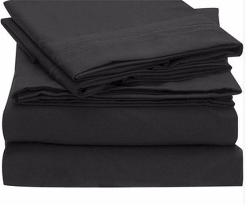 Bed <font><b>Sheet</b></font> Set - Brushed Microfiber 1800 Bedding - Wrinkle, Fade, Stain Resistant - Hypoallergenic - 4 Piece