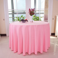 Factory Price 10pcs 90 Round Polyester Restaurant Table Cloth For Weddings Solid Table Cloths For Sale