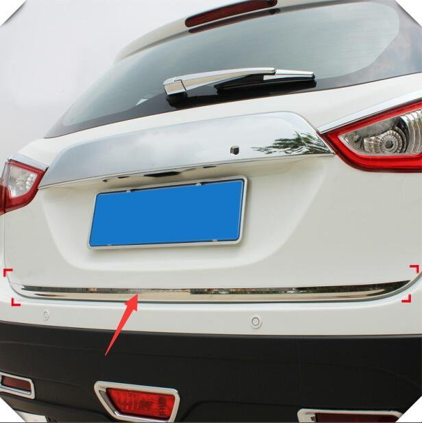 2014-2018 For Suzuki SX4 S-Cross Stainless Steel Rear Tail Gate Mouding Trim 1pcs Accessories car-styling