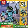 НОВЫЙ Лепин 24020 Творческий Серии три в одном Explorer Робот Набор 31062 Дети Образования Строительного Кирпича Блоки Boys Toys