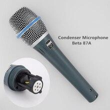 Finlemho Professional Microphone Condenser Karaoke Recording Studio Vocal Beta 87A For Home DJ Speaker Mixer Audio Phantom Power wireless microphone system mp3310 for dj speaker in professional audio