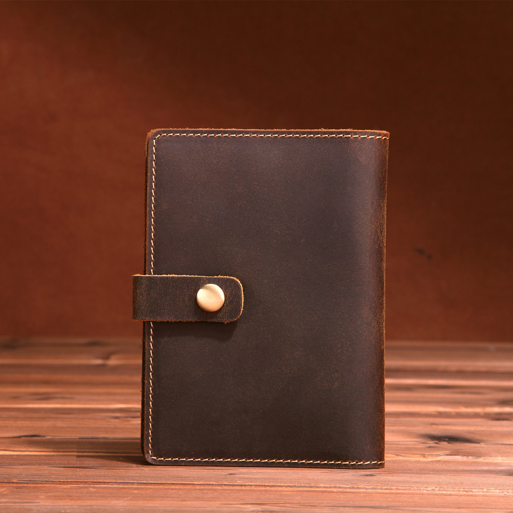 LAPOE Designer Genuine Leather ID Card Holder Vintage Men Card Wallets Mini Walet Driver Case Holder Protector Organizer
