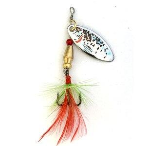 Image 5 - Oloey釣りルアー人工6個のボックススプーン魚ルアーは餌ルアールアースピナー
