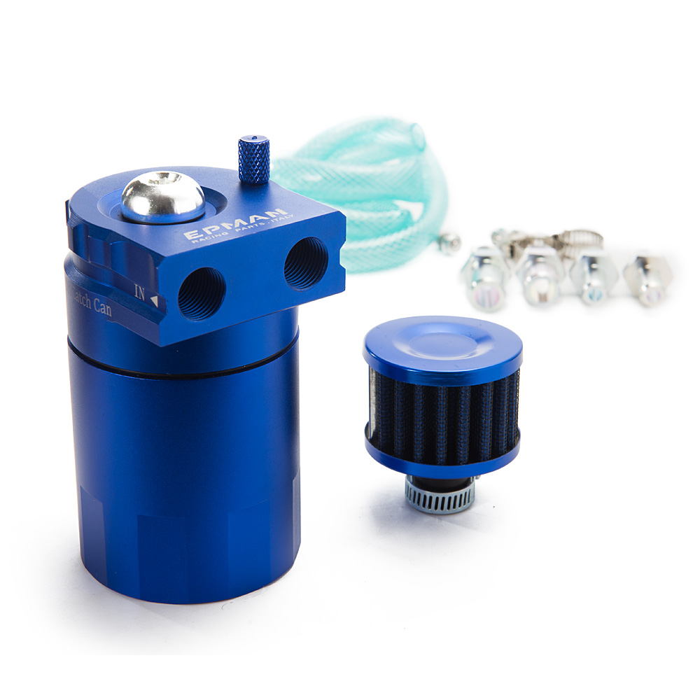 Baffled Aluminum Oil Catch Can Reservoir Tank Oil Tank With Filter Universal EP JYH08 AF