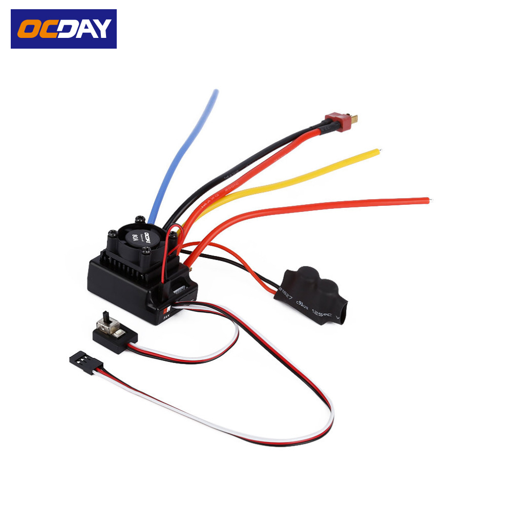 1pcs OCDAY 1/10 80A Adjustable Sensored/Sensorless Brushless ESC For Car Truck 1 10 80a adjustable sensored sensorless brushless esc for car truck