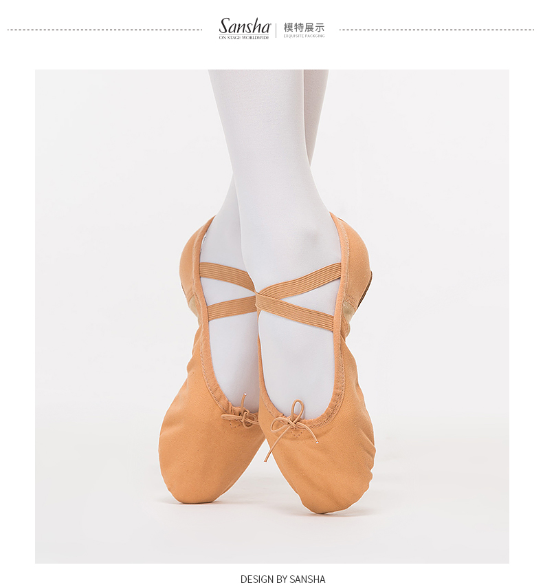 US Shoe Size Girls Classic Canvas Ballet Slippers Split Leather Soles Dance New!