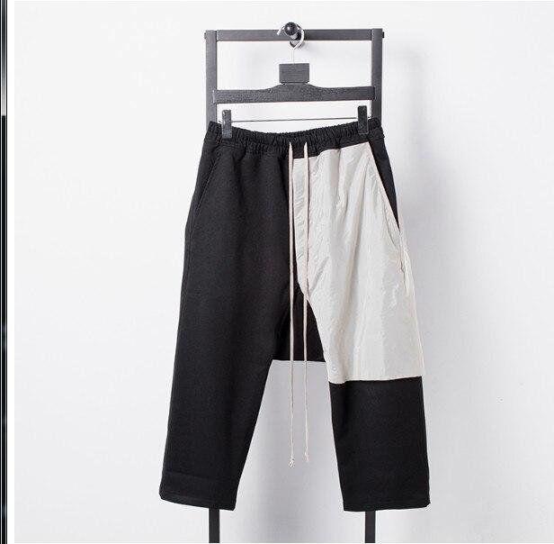 Haute qualité RO 2019 style européen et américain jaune pâle mendiant nouveau patch couture Harlan marée modèles pantalons