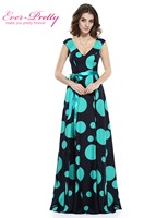 Prom Dresses Sexy V-neck Women's elegant long Prom party dress Ever Pretty HE08810 Low Stretch Polka Dot Lace Prom Dress