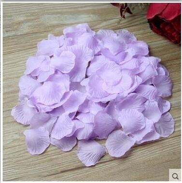 2000 шт. / партия 5* 5 см шелковые лепестки роз на свадьбу, Романтические искусственные лепестки роз Свадебные розы - Цвет: Light Purple