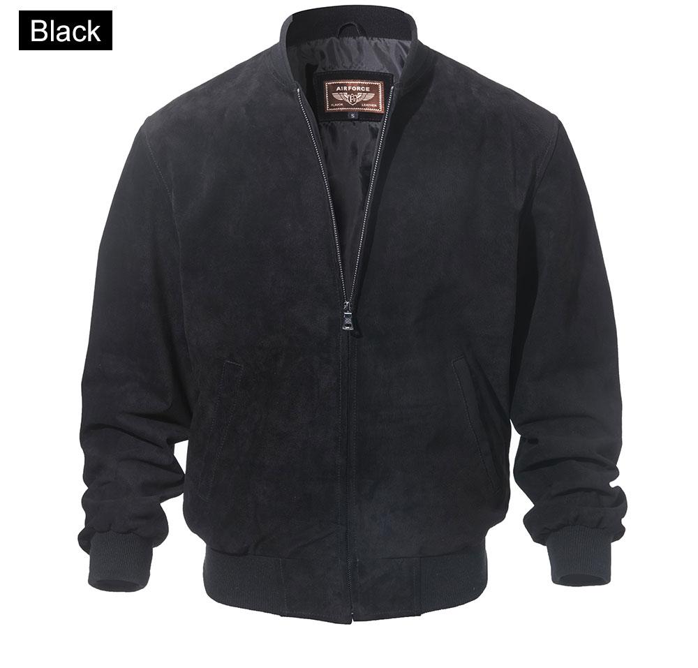 FLAVOR Men Classic Real Pigskin Coat Genuine Baseball Bomber Leather Jacket