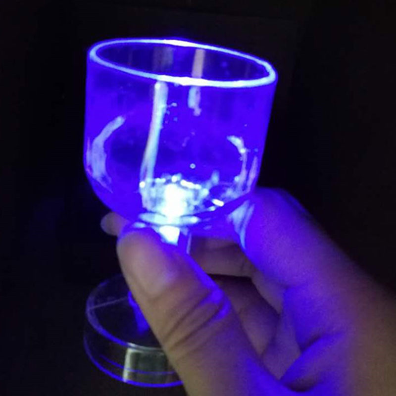 Luminous LED Whisky Wine Cup Night Light Glass LED Colorful Induction Cup Bar Party Supply Drinking Tools