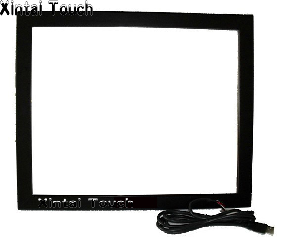 19 inch ir touch screen frame truly 6 points Infrared multi touch screen kit with USB interace, driver free 32 inch high definition 2 points multi touch screen panel ir multi touch screen overlay for touch table kiosk etc