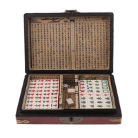 Portable Chinese Mahjong Game Set Travel Size 8.2 x 6 x 1.8 inch for Party Play Fun Entertainment Fun Family Board Games