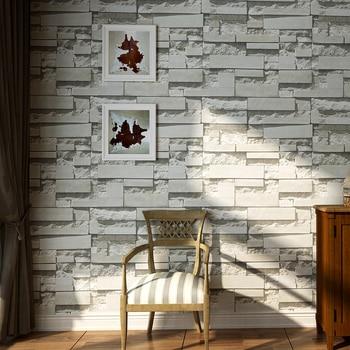 Modern 3D Stone Brick Wall Non-woven Wallpaper Roll Living Room Bedroom Background Wall Decor Art Wall Paper Papel De Parede 3D Wallpapers
