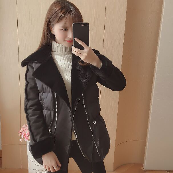 Winter Jacket Women Thick Warm Coat Short   Parka   Mujer Casual Loose Female Padded Turn Down Collar Zipper Pockets Full Sleeve