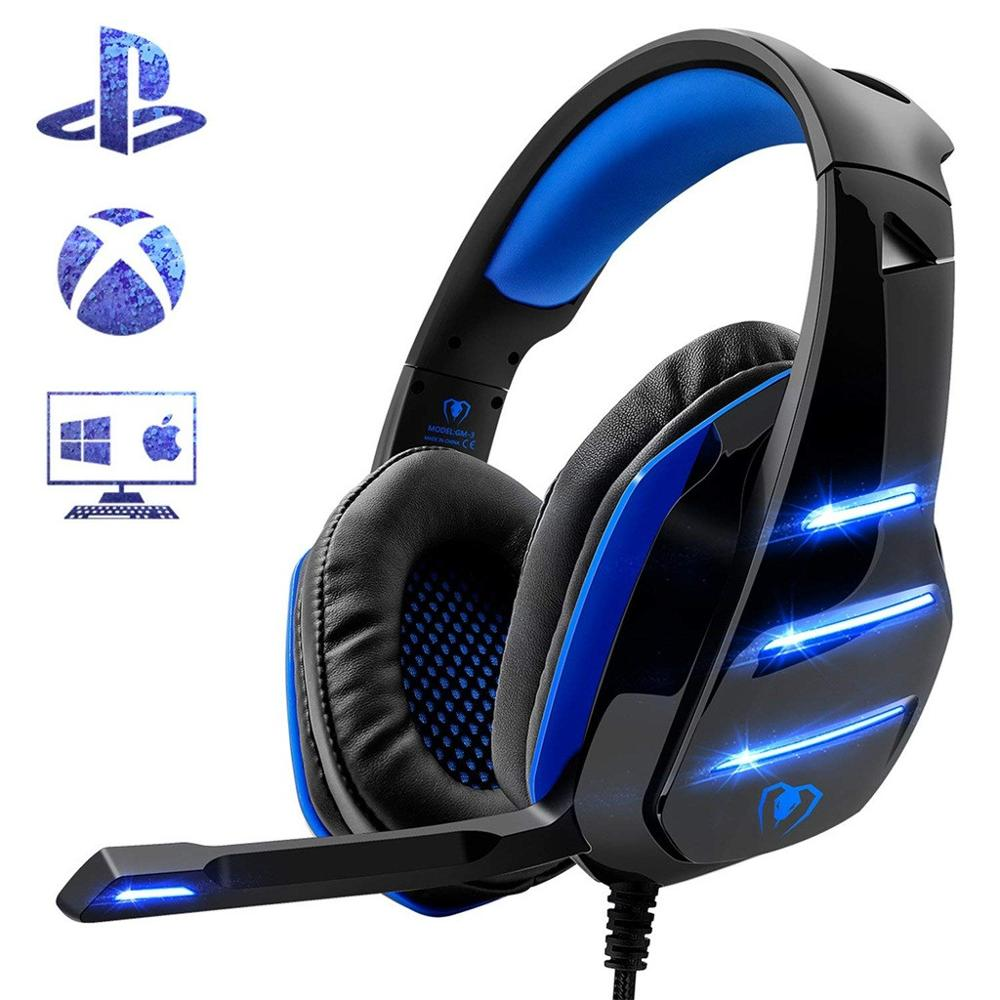 gaming Headset Big earphone Wired Gaming Headphones Microphone Earphone Headset For PS4 pc game Elastic for X Box One Q70