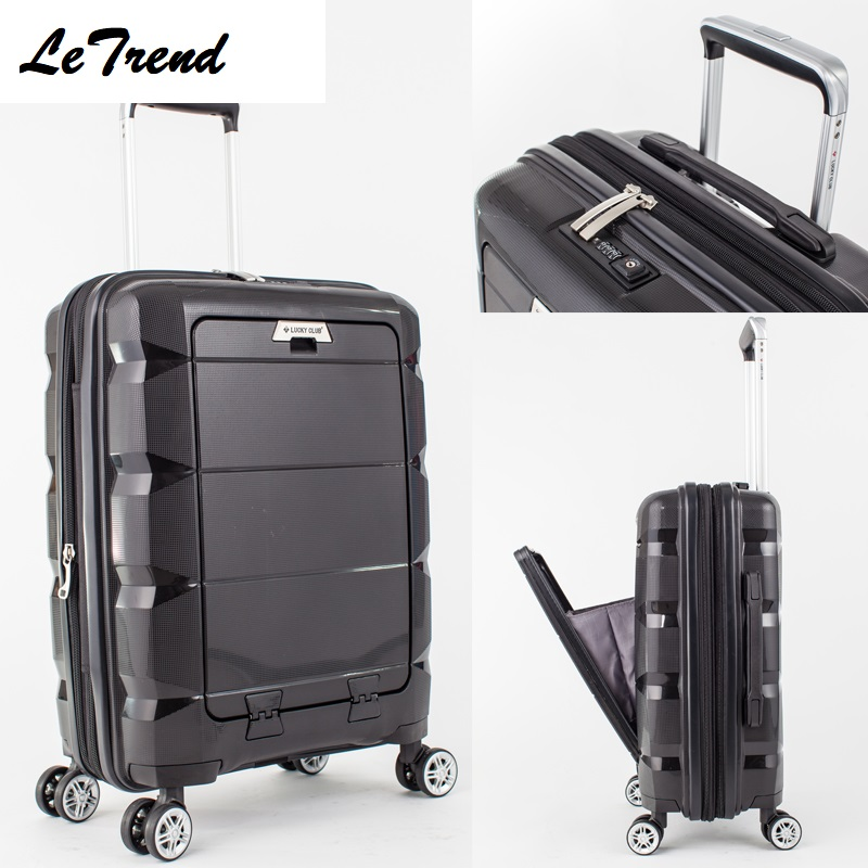 Us 146 05 37 Off 20 24inch Computer Interlayer Waterproof Rolling Luggage 100 Pp Trolley Solid Travel Bag Boarding Carry On Suitcases Trunk In