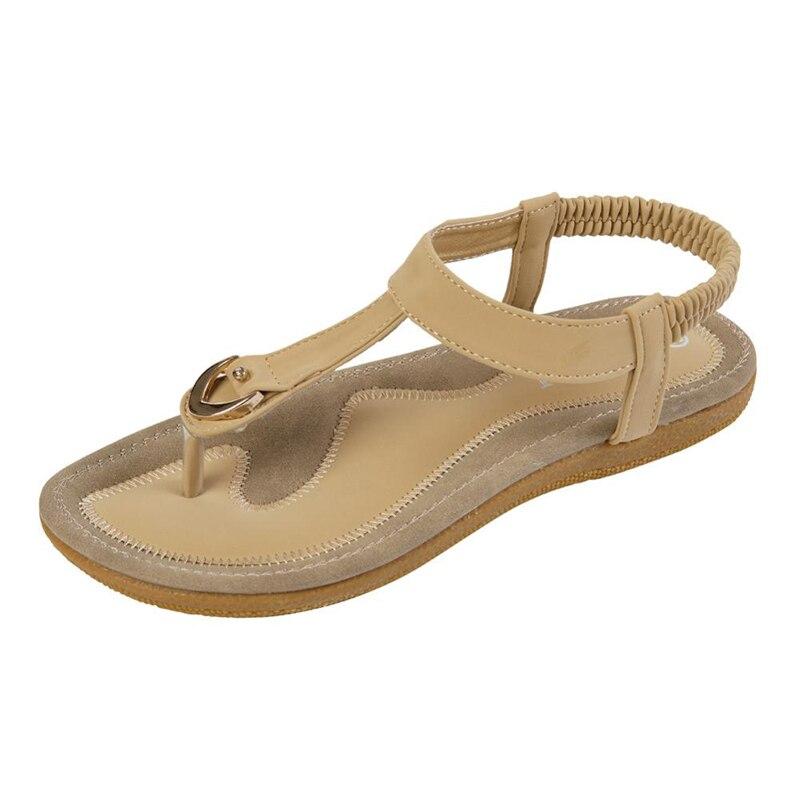 Summer Shoes Sandalias Vintage Slippers Flip-Flops Bohemia-Style Flat Soft-Bottom Big-Size