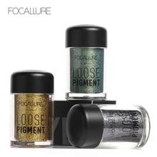 Focallure New Glitter Metallic Powder Eyeshadow Single Color Pigments  Shimmer Eye Shadow