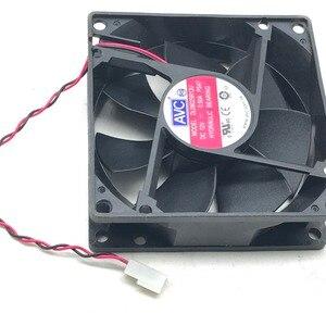 Image 3 - Dla AVC 8025 80mm x 80mm x 25mm DL08025R12U łożysko hydrauliczne chłodnica wentylator 12V 0.50A 2 drutu 2Pin złącze
