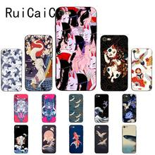 Ruicaica Japanese Style Anime Embossed crane fox Coque Shell Phone Case for iPhone 8 7 6 6S 6Plus 5 5S SE XR X XS MAX Cover(China)