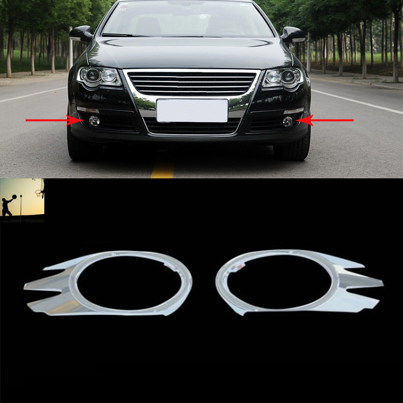 car styling ABS chrome front rear fog lamps cover trim For VW Volkswagen Passat B6 2005 2006 2007 2008 2009 2010 car styling