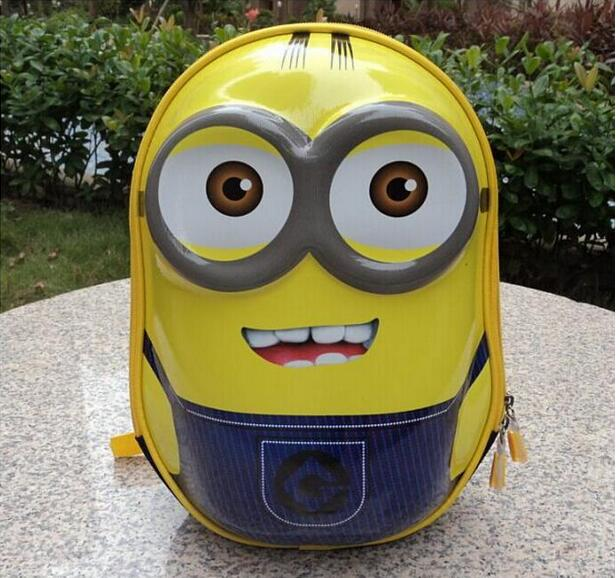 2018 Minions 3D <font><b>backpack</b></font> <font><b>kids</b></font> Puppy mochilas escolares infantis children <font><b>school</b></font> bags lovely Satchel <font><b>School</b></font> knapsack Baby bag image