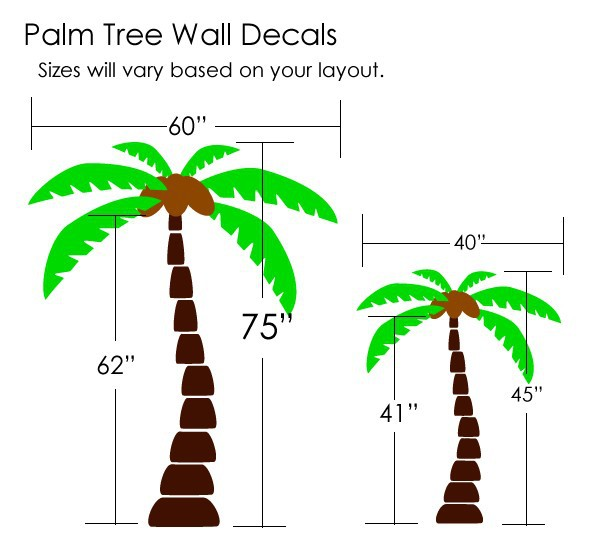 Aliexpress.com : Buy Palm Tree Wall Decals Wall Sticker Tree Vinyl Decals  Home Decoration Wall Art Living Room Decor Wall Stickers From Reliable  Decorative ...