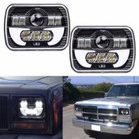 2 Pcc 5x7 Auto DRL Led Headlamp 5x7 Inch Led Truck Headlight 6x7 High Low Beam